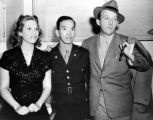 Victor Quon with Dinah Shore and Bing Crosby