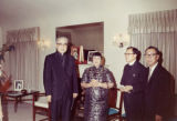 A photo of Bishop Yu-Pin, Lily Lum Chan and Stanley H. Chan