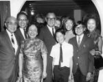 "Governor Edmund G. ""Pat"" Brown returned to Los Angeles Chinatown to campaign for..."