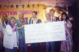 CCOA Nutrition program, Hawaiian Day, in which Cathay Bank of Los Angeles presented the Chinese...