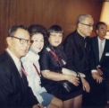 Professor Stanley Chan, Mrs. Suzy Lee, Lily Chan, Bishop Paul You-Pin, Mr. Lum W. Tim in a group...