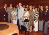 Honoring Cranstons at the Golden Dragon Restaurant in Los Angeles. Lily Chan, president of the...