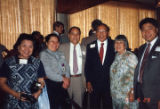 At the Mirawa Restaurant in Los Angeles, a group photo of Judge Tang, Lily Lum Chan, Mr. &...