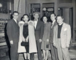 A group photo, Lily Chan is the third person to the right and James Wong Howe is on the right