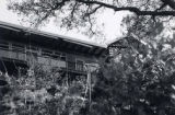 View of a hillside home. Text on the back of the photo indicates that the photo was taken from...