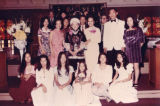 Family wedding photo in a church, Ko Po Kwok is in the center.