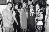 Left to right are: Sherwin Chen, Barbara Wong, First Lady Betty Ford, Poy Wong and Julia Wu
