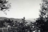 Aerial view of the suburban valley in Los Angeles. The photo was possibly taken from the patio...
