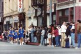 Chinese New Year parade celebrating the Year of the Ram on February 16, 1991. Pictured is a group...