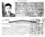 "Copy of ""Certificate of Identity"" given to Lew Chew Lan"