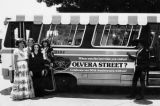 Olvera Street's fiftieth anniversary. Present in the photo are Caroline Asencio and Manuel Murillo