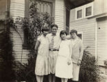 Photo of (from left to right) Dorothy Siu, her brother, friend of Dorothy and Jake's mother...