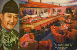 "Postcard of ""Allan Lum's New Grand East Cafe"""