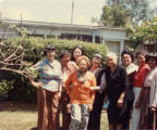 "Group of women including Lily Lum Chan, ""St. House Boarding Meeting at Catherine's"""