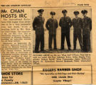 "An article entitled ""Mr. Chan Hosts IRC"" from the Los Angeles Loyolan"