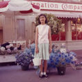 Susan Quan in front of Carnation Company store at Disneyland