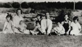 The George Ng Quon family at the Woo Family's Plummer St. Asparagus Ranch in the San Fernando...