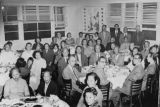 A large dinner gathering in the Shangri-La Restaurant on Chung King Road; pictured among the crowd...