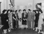 Honoring Pearl Buck, Mrs. Dan Louie, Mrs. Lau, Elaine Chow, Lily Ho Quon, Pearl Buck, Grace Chow
