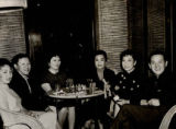 Restaurant souvenir photo of Walter Lee, Anna Bang, Esther Bang and Gilbert Woo at Man Jen Low in...