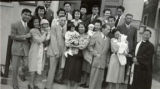Photo taken after the baptism ceremony at the Los Angeles Chinese Congregationalist Church. Left...