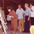 Central City Optimist Club's first annual art show at the home of Dr. and Mrs. Hollis Chang. Gerald Jann in the...