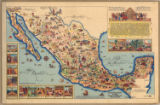 Pictorial Map of Mexico, 1931