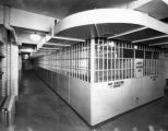 View of cell blocks, County Jail