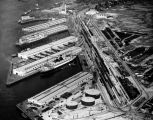 Passenger ships docked in L.A. Harbor