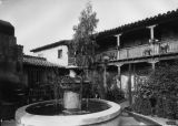 Mexican Village, fountain and courtyard