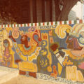 Retaining wall mural, Cypress Park Branch Library