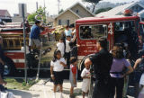Firetruck visits Cypress Park Branch Library
