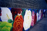 Wall of flowers, a mural