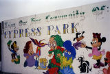 Disney characters, a mural