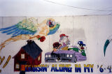 Looney Toon characters, a mural