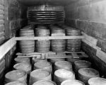 Liquor barrels ready to be transported