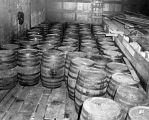 Storage area, liquor barrels