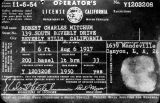 Robert Mitchum's license
