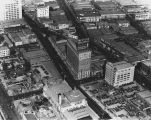 Herald Examiner building, aerial view