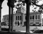 Powell Library at U.C.L.A., exterior view