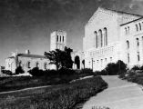 Royce Hall and Powell Library, exterior views