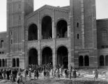 Students in front of Royce Hall, U.C.L.A.