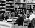 Students in a branch library