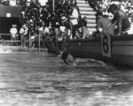 "Clarence ""Buster"" Crabbe wins 400-meter freestyle event"