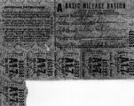Wartime gas rationing coupons