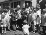Dempsey with children, view 6