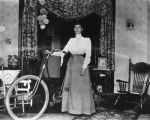 Woman and her bicycle