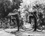 Two boys with their bicycles
