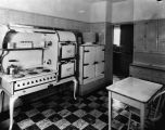 Kitchen with six-burner stove