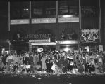 Crowd in front of Clifton's Cafeteria